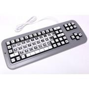 Clevy Tastatur Schwarz/Weiss