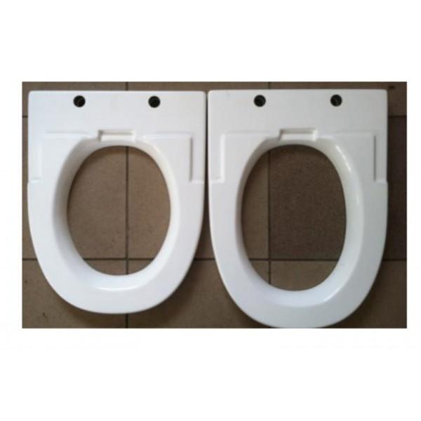 1A Sitzerhöhung verlängert -  Zusatzoption für WC-Brille und Bidet